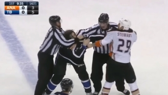 A Lightning Player Dropped His Gloves Twice In One Shift And Didn't Actually Fight Anyone