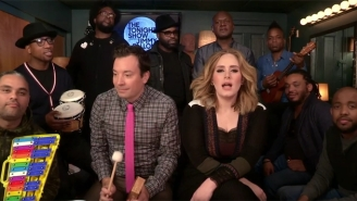 Adele Joins The Roots And Jimmy Fallon To Perform 'Hello' With Kid Instruments