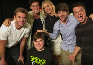 Jennifer Lawrence and her 'Hunger Games' co-stars pranked Smosh