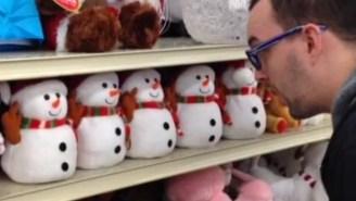 Watch This Adorable Row Of Satanic Snowmen Hail Their Dark Lord