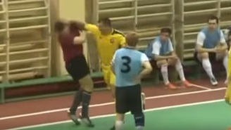 This Poor Referee Got Punched In The Face Just For Doing His Job