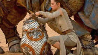 We need to talk about how John Boyega hashtagged this 'Star Wars' clip of Rey