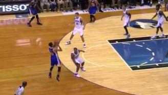 Steph Curry Had The Ball Knocked From His Hands But Made This Deep Three-Pointer Anyway