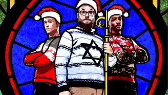 Just how high was the cast of 'The Night Before' on set?