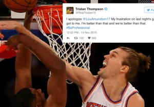 Tristan Thompson Apologizes For The Shade He Threw At Lou Amundson After Getting Rejected