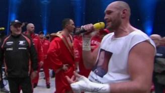 Tyson Fury Celebrated His Heavyweight Title Win By Singing An Aerosmith Power Ballad