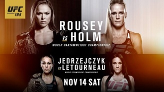 UFC 193 Live Discussion: Rousey Versus Holm