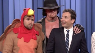 The Undertaker Tombstoned A Turkey On 'The Tonight Show'