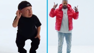 Verne Troyer Does His Best To Outdo Drake's Dance From The 'Hotline Bling' Video
