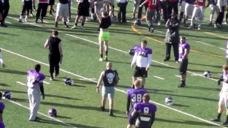 Watch Mount Union's Football Coaches Become The Undertaker, Stone Cold & More During Halloween Practice