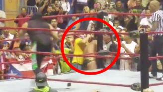 Watch A Crazy Fan Attack Alberto Del Rio During A Match In Puerto Rico