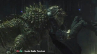 Batman Hits Killer Croc With An RKO From Outta Nowhere In The Latest 'Arkham Knight' DLC