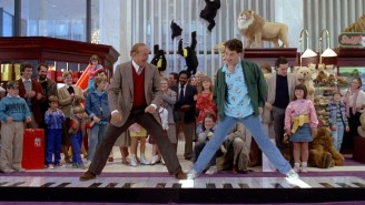 Here's the late Robert Loggia in the immortal piano scene from 'Big'