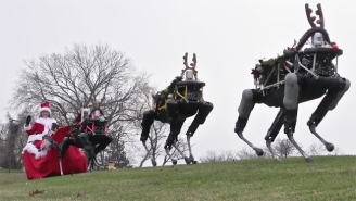 Boston Dynamics Just Made The Holidays A Little Creepier With Their 2015 Christmas Greeting