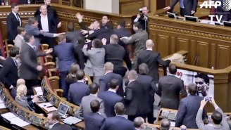 The Insane Brawl That Broke Out In Ukrainian Parliament Makes The U.S. Government Look Sophisticated In Comparison