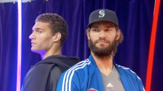 Brook And Robin Lopez Had A Lightsaber Battle Ahead Of Their First NYC Showdown
