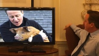 David Cameron Watched The Space Launch And It Turned Into The Weirdest Meme