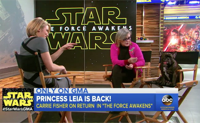 Carrie Fisher Brought Her Dog To This Hilarious 'Good Morning America' Interview