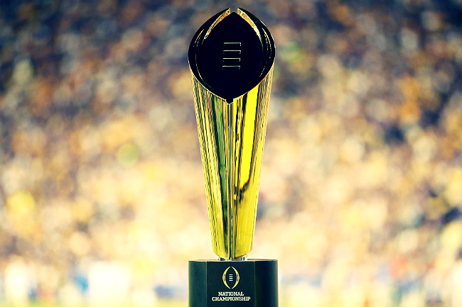 cfb playoff trophy