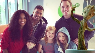Chris Pratt And Russell Wilson Brought Baby Groot To Visit A Children's Hospital