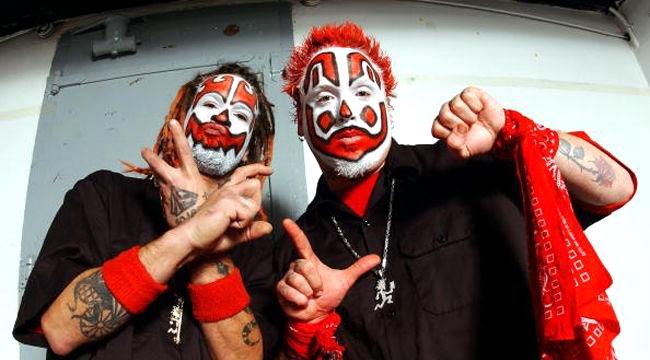 Insane Clown Posse backstage in Chicago