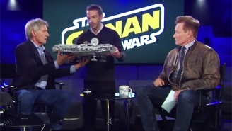 Harrison Ford Meets 'Conan' Producer Jordan Schlansky With Some Disastrous Results