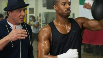 Sylvester Stallone shows us how Michael B. Jordan got knocked out while filming 'Creed'