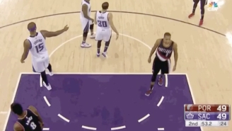DeMarcus Cousins Gave Himself Some DAP After Getting Left Hanging By Rajon Rondo