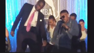Take A Second And Enjoy Dikembe Mutombo Doing The Stanky Leg