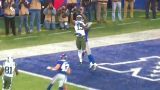 Watch Brandon Marshall Go Way Up For A Game-Tying Touchdown Grab