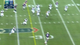 Here's Tom Brady Catching A Pass For A Huge Gain