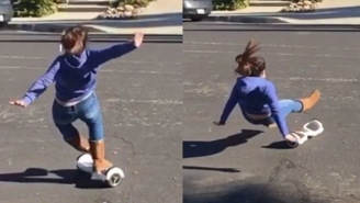 A Post-Christmas Wrap-Up Of People Wiping Out On Their New Hoverboards