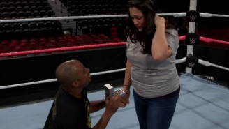 WWE's Naomi And Jimmy Uso Helped A Fan Propose To His Girlfriend In The Middle Of The Ring