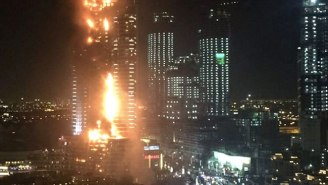 A Huge New Year's Eve Fire Engulfed A Dubai Skyscraper Near The Burj Khalifa