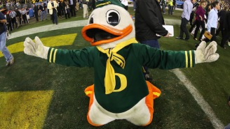 Scott Frost Is Leaving Oregon And The Ducks Mascot Is Not Handling It Well At All