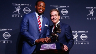 After A Record-Breaking Season, Alabama Running Back Derrick Henry Wins 2015 Heisman Trophy