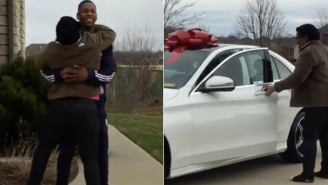 Glenn Robinson III's Christmas Present To His Mom Led To This Outrageous Scream For Joy