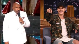 Is Justin Bieber Comforting Or Trolling Steve Harvey After His Miss Universe Catastrophe?