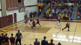 Watch This Insane Full Court Game-Winning Buzzer Beater In A High School Game