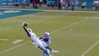 Jarvis Landry Did His Best Odell Beckham Impression With This One-Handed Grab