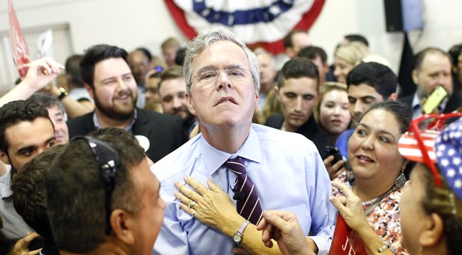 Republican Presidential Candidate Jeb Bush Campaigns In Tampa