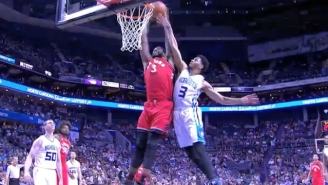 James Johnson Perfectly Times His Jump For A Massive Follow Slam Over Jeremy Lamb
