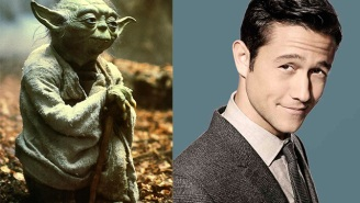 See Joseph Gordon-Levitt dressed as Yoda at the 'Star Wars' premiere