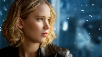In which Jennifer Lawrence screams in the next room while we're asking about her