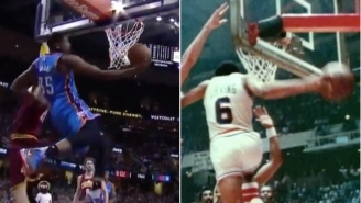 Kevin Durant's Resemblance To Dr. J On This Play Was Astounding