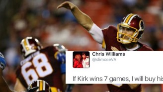 One Dismissive Tweet About Kirk Cousins Cost This Redskins Fan Dearly