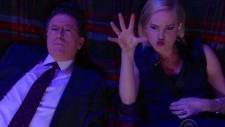 Jennifer Lawrence and Stephen Colbert look at the stars, ask Big Questions