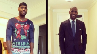 LeBron James' Ugly Christmas Sweater Will Put Yours To Shame