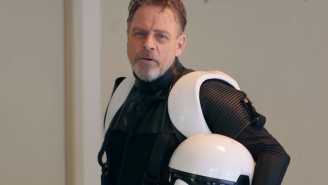 Mark Hamill surprises fans for charity dressed as a stormtrooper