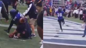 This Memphis Player Tackled A Ball Boy, Stole A Game Ball And Flipped Everyone The Bird